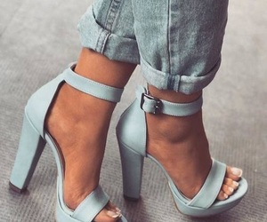 shoes, blue, and fashion image