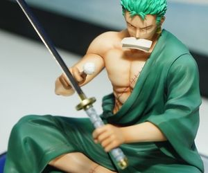 action figure, zoro, and anime image