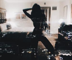 city, dark, and light image