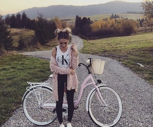 girl, bicycle, and fashion image