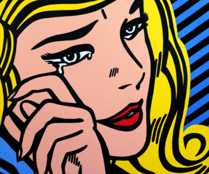 cry, pop art, and art image