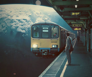 train, art, and space image
