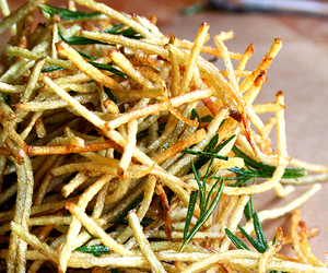 food, fries, and rosemary image