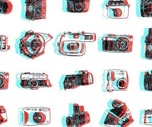 cameras, patterns, and wallpaper image