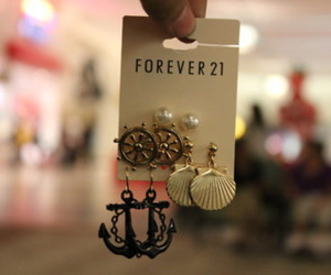earrings, fashion, and forever 21 image