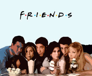 chandler, friends, and Joey image