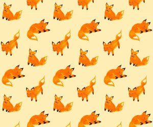 fox, pattern, and wallpaper image