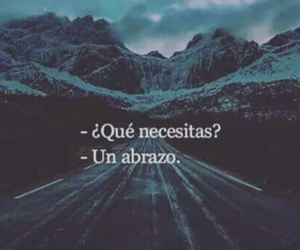 amor, frases, and abrazos image