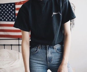 boyfriend jeans, levis, and metallica image