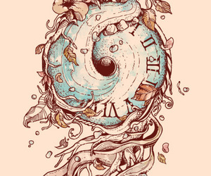 art, fish, and time image