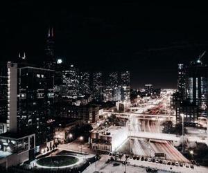 city, dark, and aesthetic image