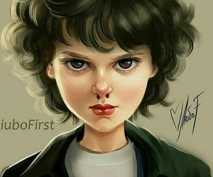 curly hair, eleven, and 011 image