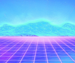 aesthetic, vaporwave, and blue image