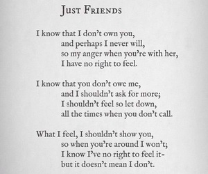 friends, quotes, and just friends image