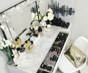 makeup, vanity, and decor image