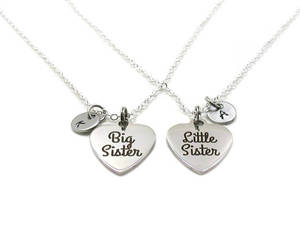 etsy, silver jewelry, and sisters necklace image