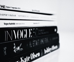 vogue, book, and magazine image