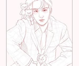exo, kai, and painting image