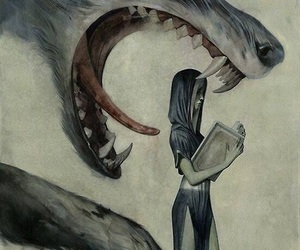 wolf and book image