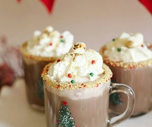christmas and hot ​chocolate image
