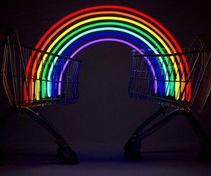 rainbow and hipster image