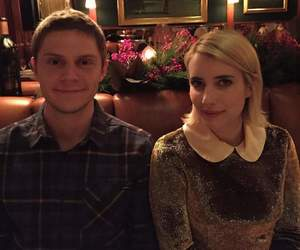 couple, love, and emma roberts image