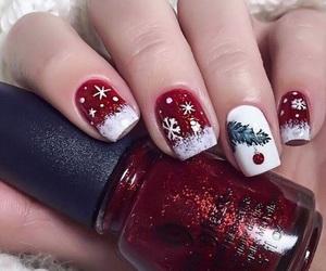 nails, christmas, and holiday image