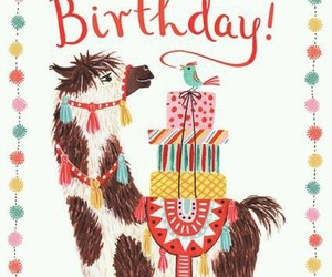 llama, happybirthday, and cumpleaños image