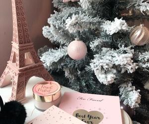 christmas, makeup, and rosegold image