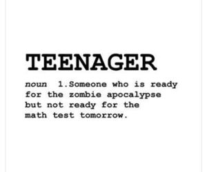 teenager, quotes, and zombie image