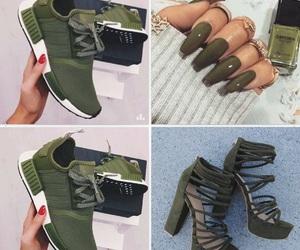 edgy, green nails, and nails image