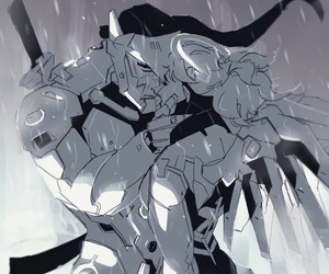 otp, mercy, and genji image