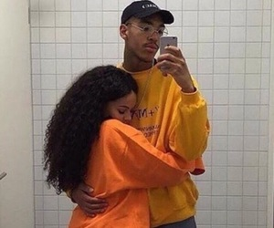 couple, curly hair, and postbad image