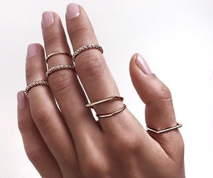 rings, nails, and style image