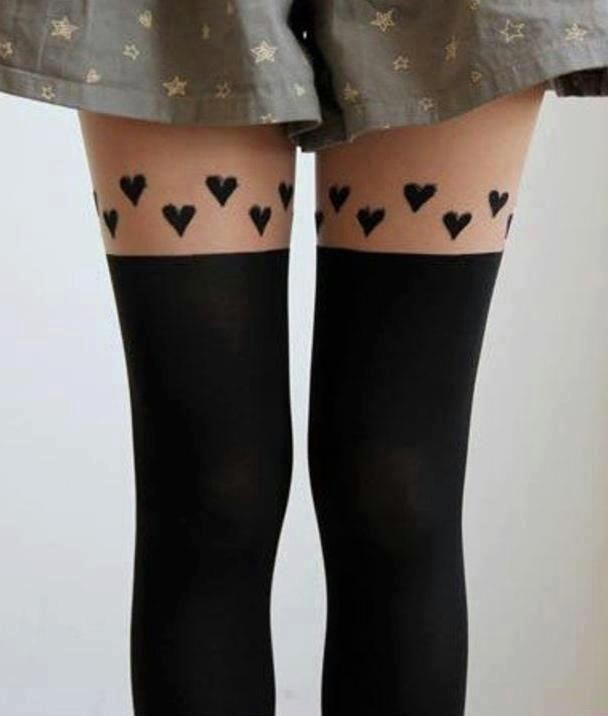 fashion, hearts, and socks image