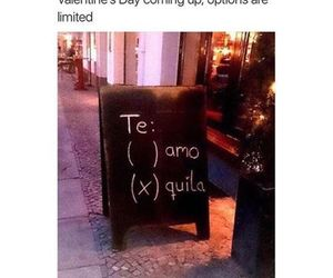funny, te amo, and tequila image