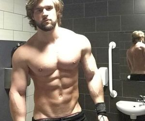 exercise, hunks, and workout image