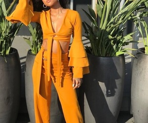 karrueche, yellow, and outfit image