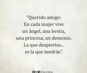 bestia, frases, and mujer image