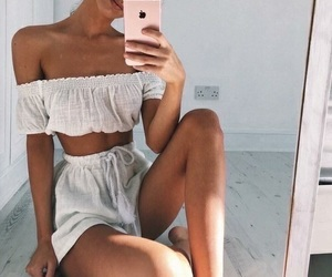 dress, two piece, and cute image