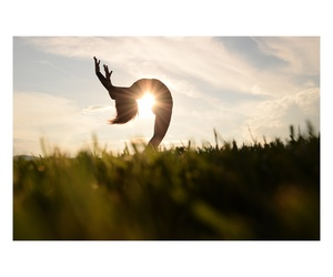 dance, silhouette, and sunset image