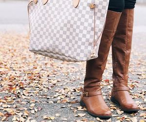 bag, louisvuitton, and boots image