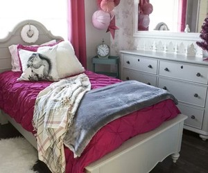 bedroom, girly, and winter style image