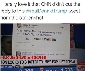 cnn, funny, and donald trump image