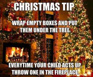 christmas, fire, and funny image