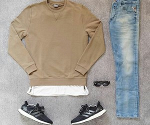 casual, jeans, and men image