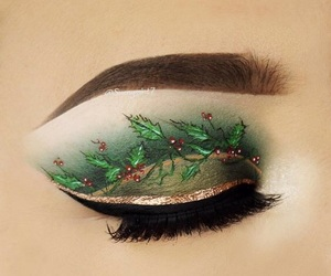 christmas, girl, and makeup image