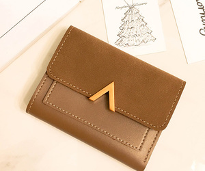 brown, fashion, and wallets image