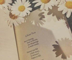 book, flowers, and poem image