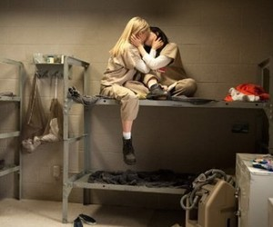 kiss, orange is the new black, and love image